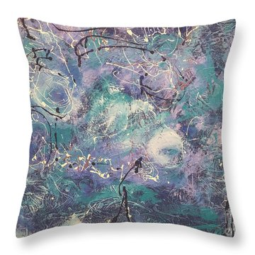 Cosmic Abstract Throw Pillow by Gallery Messina