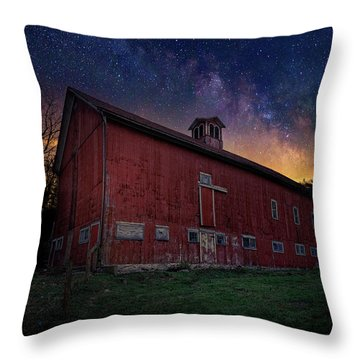 Throw Pillow featuring the photograph Cosmic Barn by Bill Wakeley
