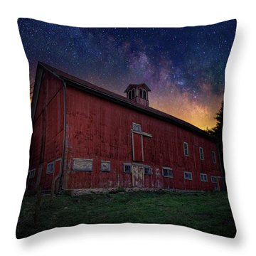 Throw Pillow featuring the photograph Cosmic Barn Square by Bill Wakeley