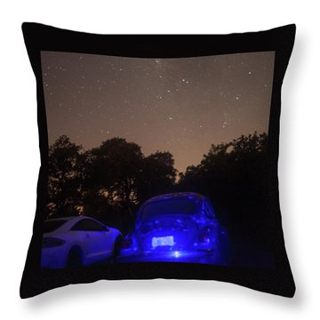 Cosmic Beetle 7 Throw Pillow