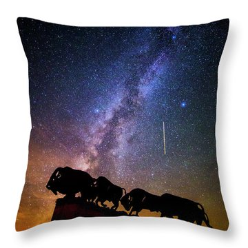 Throw Pillow featuring the photograph Cosmic Caprock by Stephen Stookey