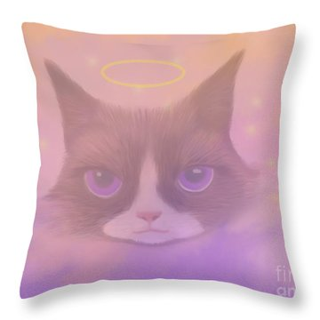 Cosmic Cat Throw Pillow