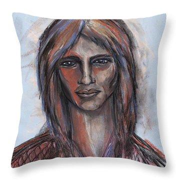 Cosmic Christ Throw Pillow