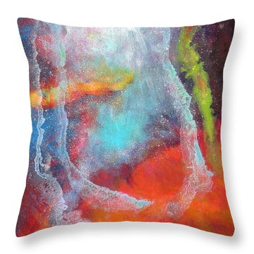 Fantasies In Space Series Painting. Cosmic Concerto Throw Pillow