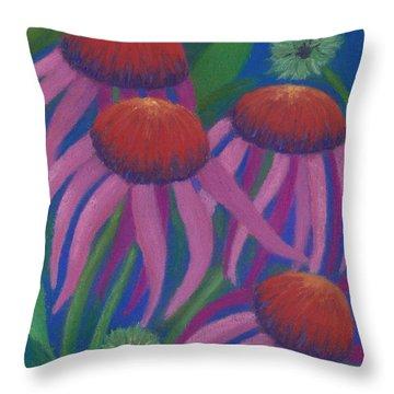 Cosmic Coneflowers Throw Pillow