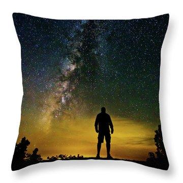 Cosmic Contemplation Throw Pillow
