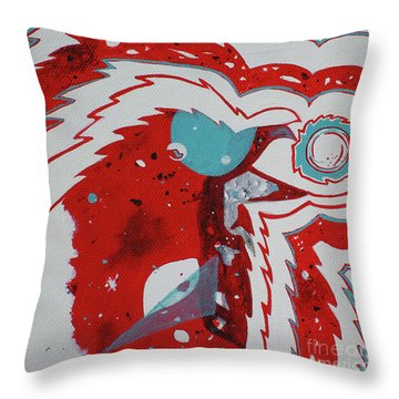 Cosmic Corvid Throw Pillow by Cynthia Lagoudakis
