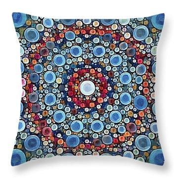 Cosmic Drift Throw Pillow