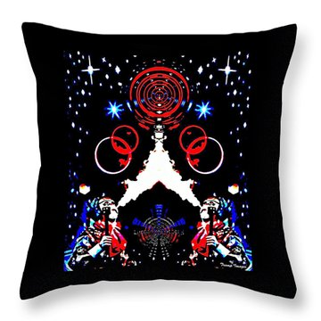 Cosmic Duo Throw Pillow