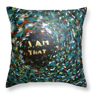 Cosmic Energy Throw Pillow by Piercarla Garusi