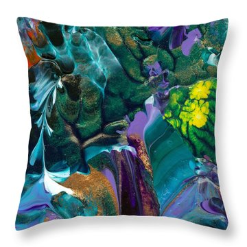Cosmic Feathered Webbed Universe Throw Pillow