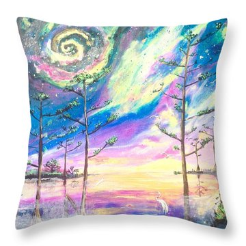 Cosmic Florida Throw Pillow
