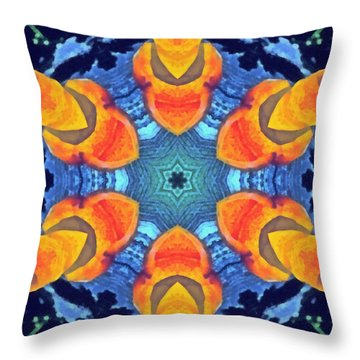 Throw Pillow featuring the painting Cosmic Fluid by Derek Gedney