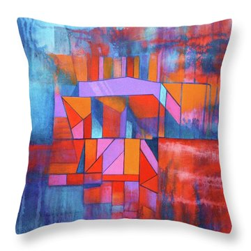 Cosmic Garage Throw Pillow by J W Kelly