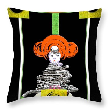 Cosmic Geisha - Close Encounter Throw Pillow