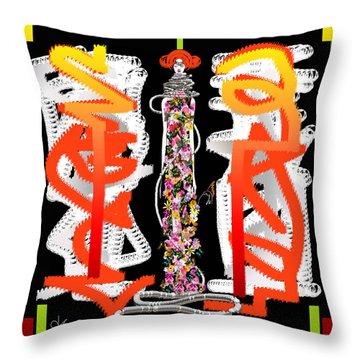 Cosmic Geisha - Dimension Hopping Throw Pillow