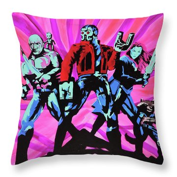 Cosmic Guardians Of The Galaxy 2 Throw Pillow