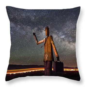 Cosmic Hitchhiker Throw Pillow