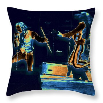 Throw Pillow featuring the photograph Cosmic Ian And Leaping Martin by Ben Upham