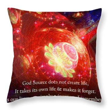 Cosmic Inspiration God Source 2 Throw Pillow