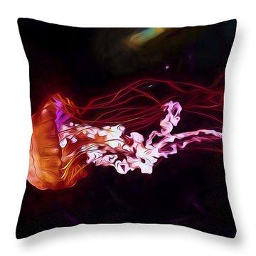 Cosmic Jellyfish Throw Pillow