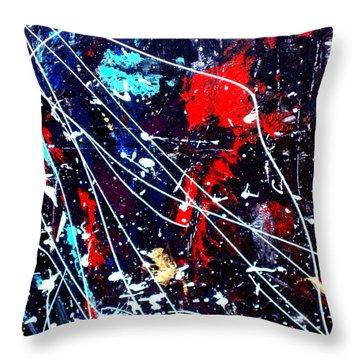 Cosmic Journey Throw Pillow by Wayne Potrafka