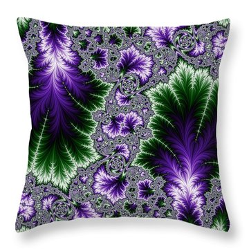 Cosmic Leaves Throw Pillow