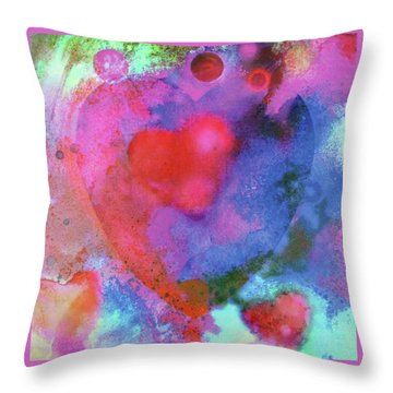 Throw Pillow featuring the painting Cosmic Love by John Dyess