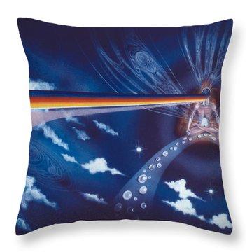 Cosmic Mediator Throw Pillow
