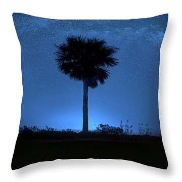 Throw Pillow featuring the photograph Cosmic Night by Mark Andrew Thomas