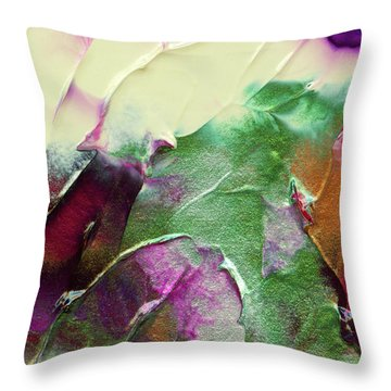 Cosmic Pearl Dust Throw Pillow