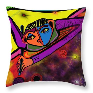 Cosmic Pool Throw Pillow