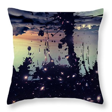 Throw Pillow featuring the photograph Cosmic Resoance No 3 by Robert G Kernodle