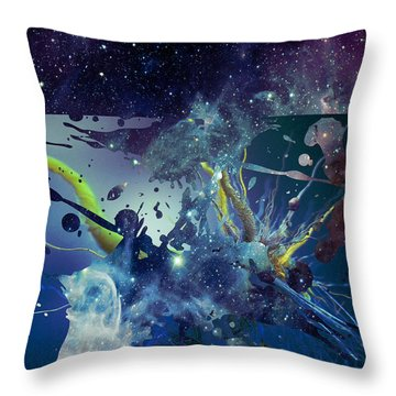 Throw Pillow featuring the photograph Cosmic Resonance No 1 by Robert G Kernodle