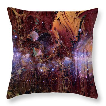 Throw Pillow featuring the photograph Cosmic Resonance No 2 by Robert G Kernodle