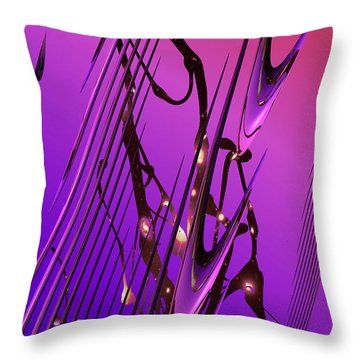 Throw Pillow featuring the photograph Cosmic Resonance No 6 by Robert G Kernodle