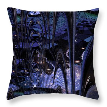 Cosmic Resonance No 8 Throw Pillow
