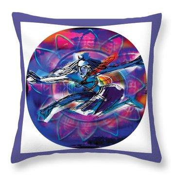 Cosmic Shiva Speed Throw Pillow
