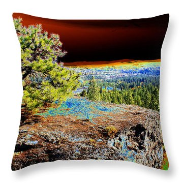 Throw Pillow featuring the photograph Cosmic Spokane Rimrock by Ben Upham III