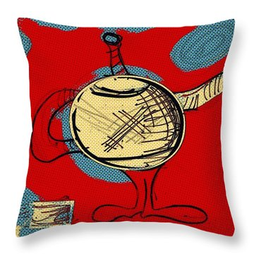 Cosmic Tea Time Throw Pillow