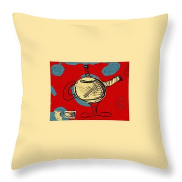 Cosmic Tea Time Throw Pillow