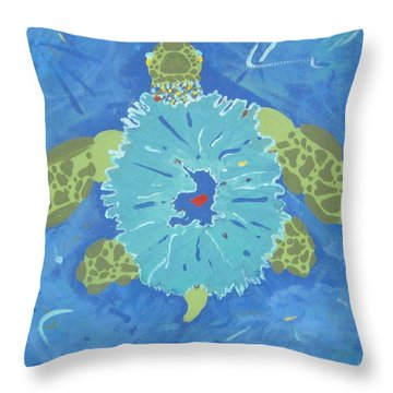 Cosmic Turtle Throw Pillow