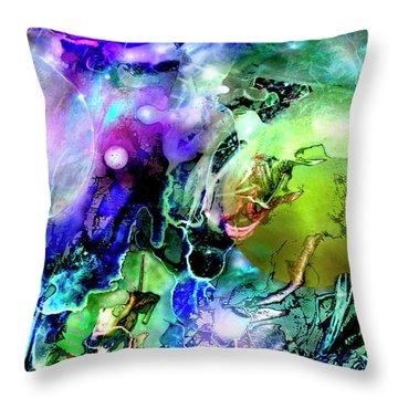 Cosmic Web Throw Pillow