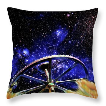 Throw Pillow featuring the photograph Cosmic Wheel by Jim and Emily Bush