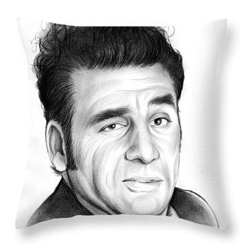 Cosmo Kramer Throw Pillow by Greg Joens