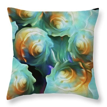 Throw Pillow featuring the mixed media Cosmo-progeny 8 by Lynda Lehmann