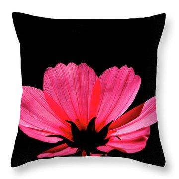 Cosmos Bloom Throw Pillow