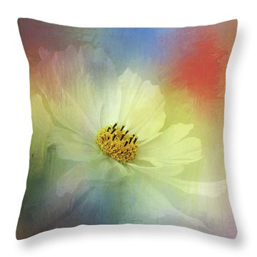 Cosmos Dreaming Abstract By Kaye Menner Throw Pillow
