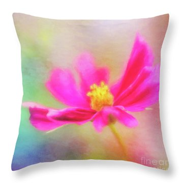 Cosmos Flowers Love To Dance Throw Pillow