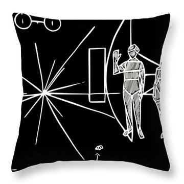 Cosmos Greetings  Throw Pillow